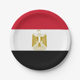 Patriotic paper plate with flag of Egypt