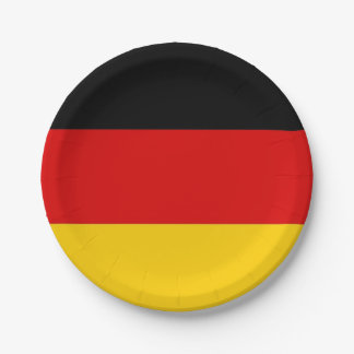 Patriotic paper plate with flag of Germany