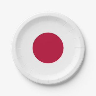 Patriotic paper plate with flag of Japan