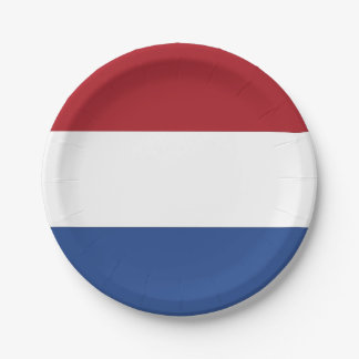 Patriotic paper plate with flag of Netherlands