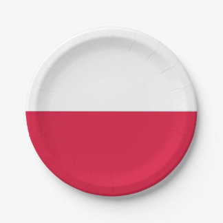 Patriotic paper plate with flag of Poland