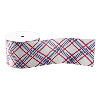 Patriotic Pattern Grosgrain Ribbon