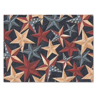 Patriotic pattern stars tissue paper