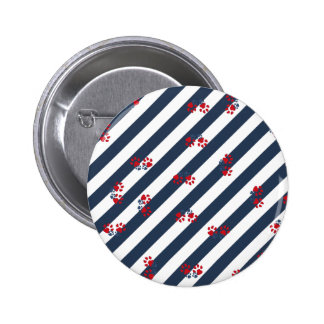 Patriotic Paws 6 Cm Round Badge