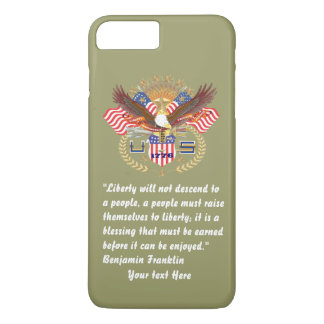 Patriotic Peace Forest Khaki iPhone 7 Plus Case