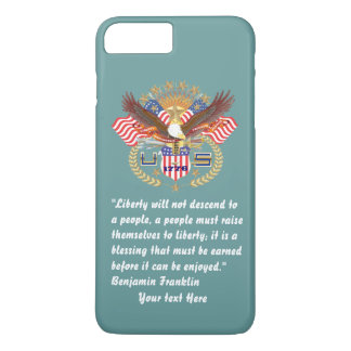Patriotic Peace Forest Ocean Green iPhone 7 Plus Case