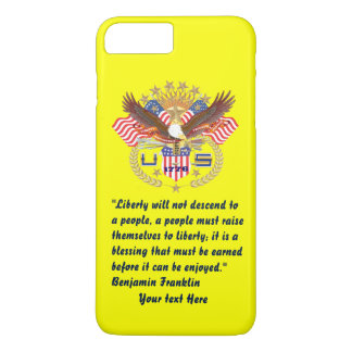 Patriotic Peace Forest Plum yellow iPhone 7 Plus Case