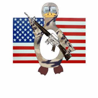 Patriotic Penguin Photo Sculpture