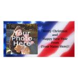 Patriotic Personalised Photo Card