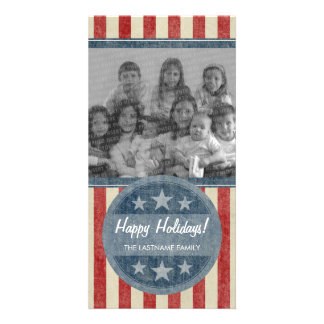 PATRIOTIC PHOTO CARD - NO WEATHERING