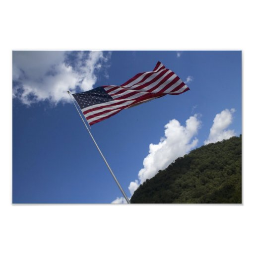 Patriotic Photo of Old Glory Waving Majestically