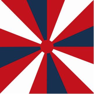 Patriotic Pinwheel Photo Sculpture Magnet