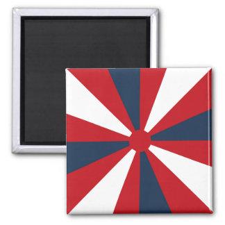 Patriotic Pinwheel Square Magnet
