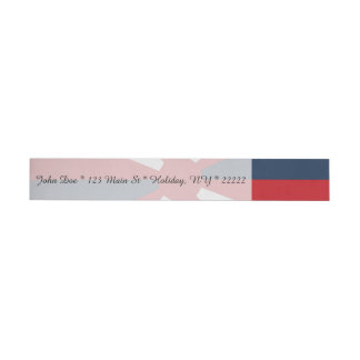Patriotic Pinwheel Wraparound Address Label