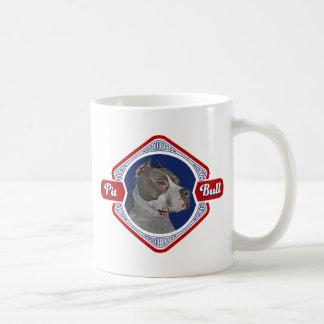 Patriotic Pit Bull Dog Logo Mug