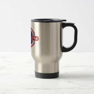 Patriotic Pit Bull Dog Logo Stainless Steel Travel Mug