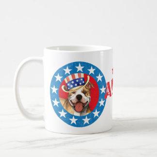 Patriotic Pit Bull Terrier Basic White Mug