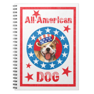 Patriotic Pit Bull Terrier Notebooks