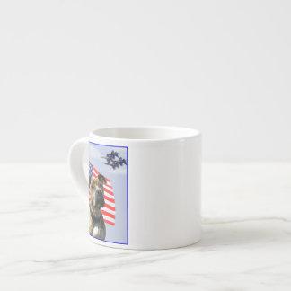 Patriotic pitbull dog espresso mug