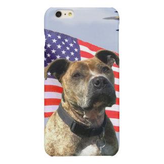 Patriotic pitbull dog iPhone 6plus case