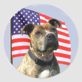 Patriotic pitbull large stickers