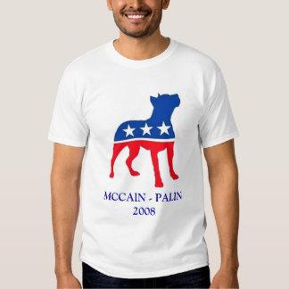 Patriotic Pitbull  MCCAIN - PALIN 2008 Tee Shirts
