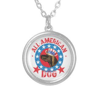 Patriotic Plott Silver Plated Necklace