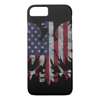 Patriotic Polish American Eagle Flag Heritage iPhone 7 Case