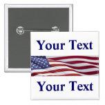 Patriotic Political Campaign 15 Cm Square Badge