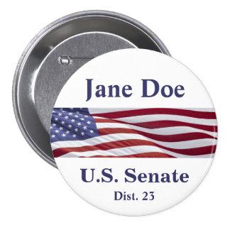 Patriotic Political Campaign 7.5 Cm Round Badge