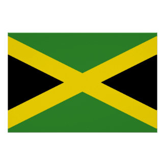 Patriotic poster with Flag of Jamaica