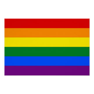 Patriotic poster with LGBT Flag