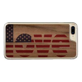 Patriotic Pride USA Flag Artisan Carved iPhone 8 Plus/7 Plus Case