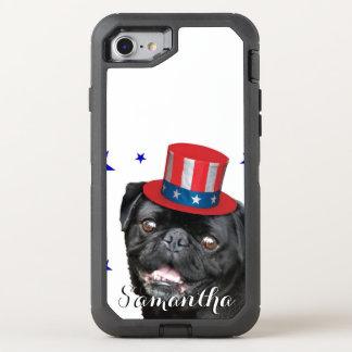 Patriotic Pug dog Otterbox phone OtterBox Defender iPhone 7 Case