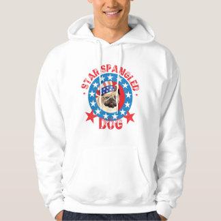 Patriotic Pug Hoodie