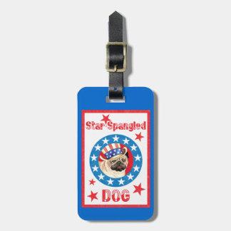 Patriotic Pug Luggage Tag