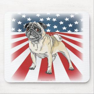 Patriotic Pug Mouse Pad