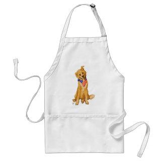 """Patriotic Pup"" Dog With American Flag Bandanna Standard Apron"
