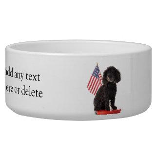 Patriotic Puppy Design Pet Water Bowls