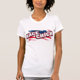 Patriotic Race Chick Fitted Tank Top