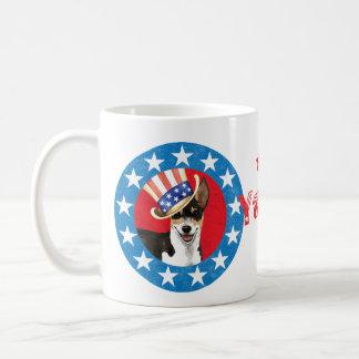 Patriotic Rat Terrier Basic White Mug