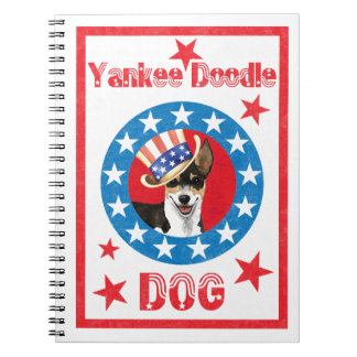 Patriotic Rat Terrier Spiral Notebooks