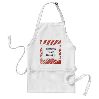 Patriotic Red and White Stars and Stripes Freedom Adult Apron
