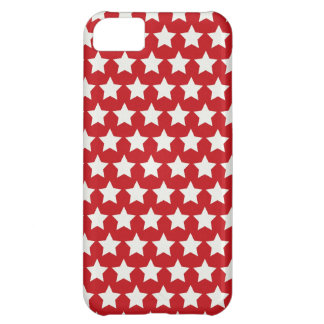 Patriotic Red and White Stars Pattern 4th of July iPhone 5C Case