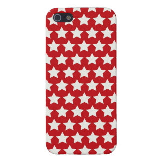 Patriotic Red and White Stars Pattern 4th of July iPhone 5 Case
