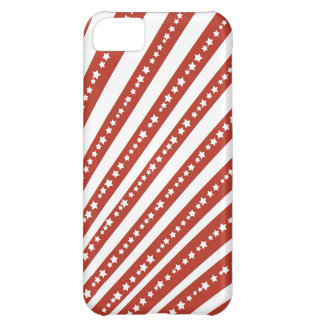 Patriotic Red and White Stars Stripes Freedom Flag iPhone 5C Case