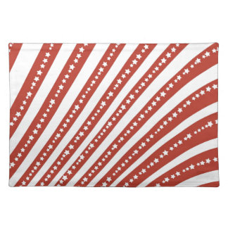 Patriotic Red and White Stars Stripes Freedom Flag Place Mat