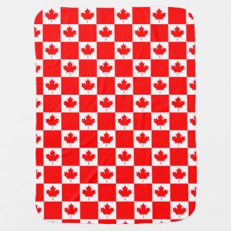 Patriotic red Canadian flag custom baby blanket