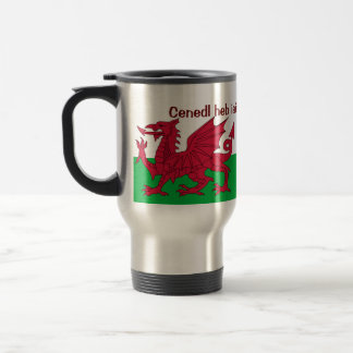 Patriotic Red Dragon Of Wales Travel Mug or Glass