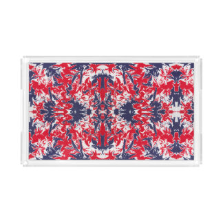 Patriotic red, white and blue abstract pattern